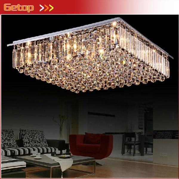 Melhor preço New Arrival K9 lustres de cristal LED iluminação restaurante sala de estar lâmpada do teto de cristal E14 iluminações interiores