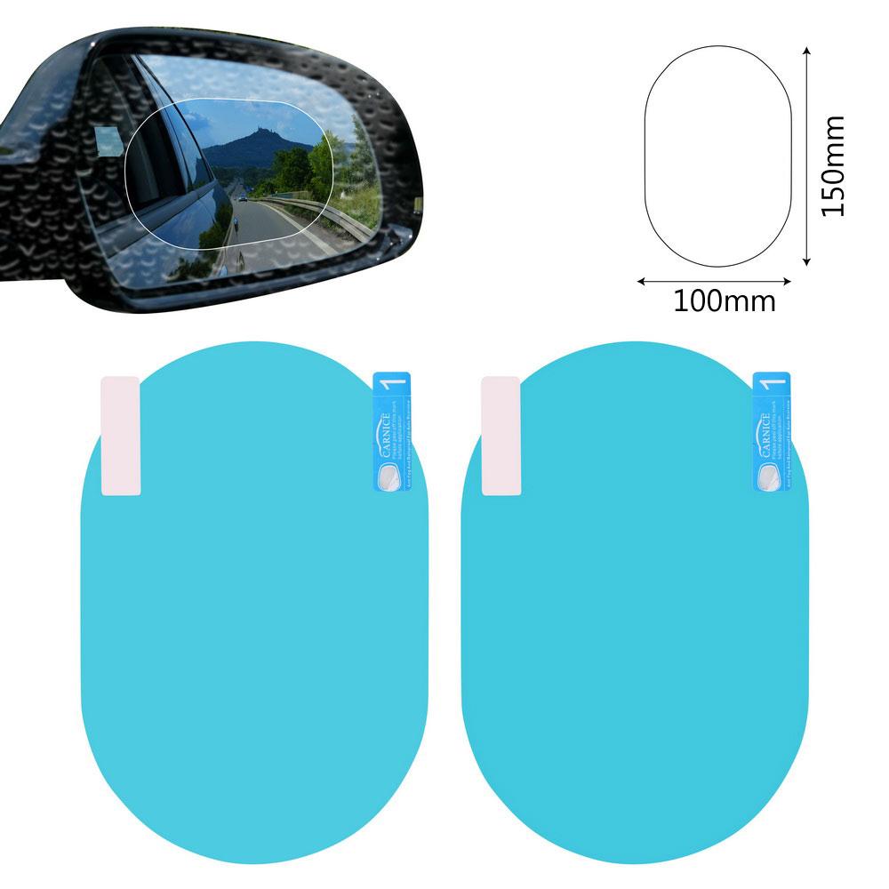 2PCS/Set Anti Fog Car Mirror Window Clear Film Anti-glare Car Rearview Mirror Protective Film Waterproof Rainproof Car Sticker 6