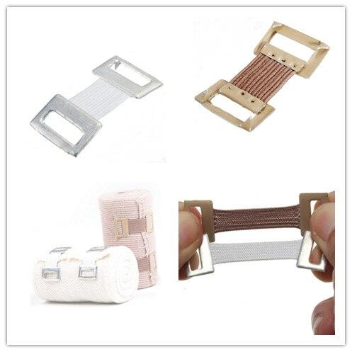 10pcs Replacement Elastic Bandage Fixation Clamps Hooks Brace Wrap Stretch Metal Clips White Coffee Color Wholesale