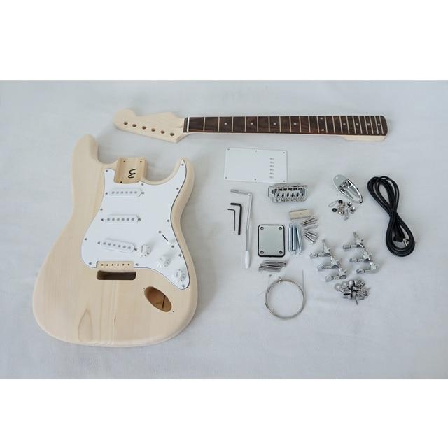 Aiersi מותג מותאם אישית DIY Strat סגנון גיטרה חשמלית ערכות דגם EK-001