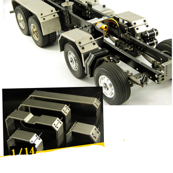 1Pair 1:14 Tractor Truck Flare Arch Fender Stainless Steel Wheel Eyebrow Metal Wheels Mud Guard for 1:14 RC Cars Modified Parts mato kingtiger metal upgraded road wheels with bearings and metal cap for 1 16 henglong 3888 1 3888a 1 king tiger rc tank parts