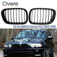 Overe Car Front Bumper Racing Grills For BMW X5 E53 BMW M Performance Accessories Motorsport X5 Series 2000 2003 2004 2006