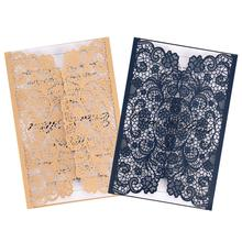 10PCS Hollow-out Wedding Invitation Innovative Romantic Greeting Cards for Business Birthday Party
