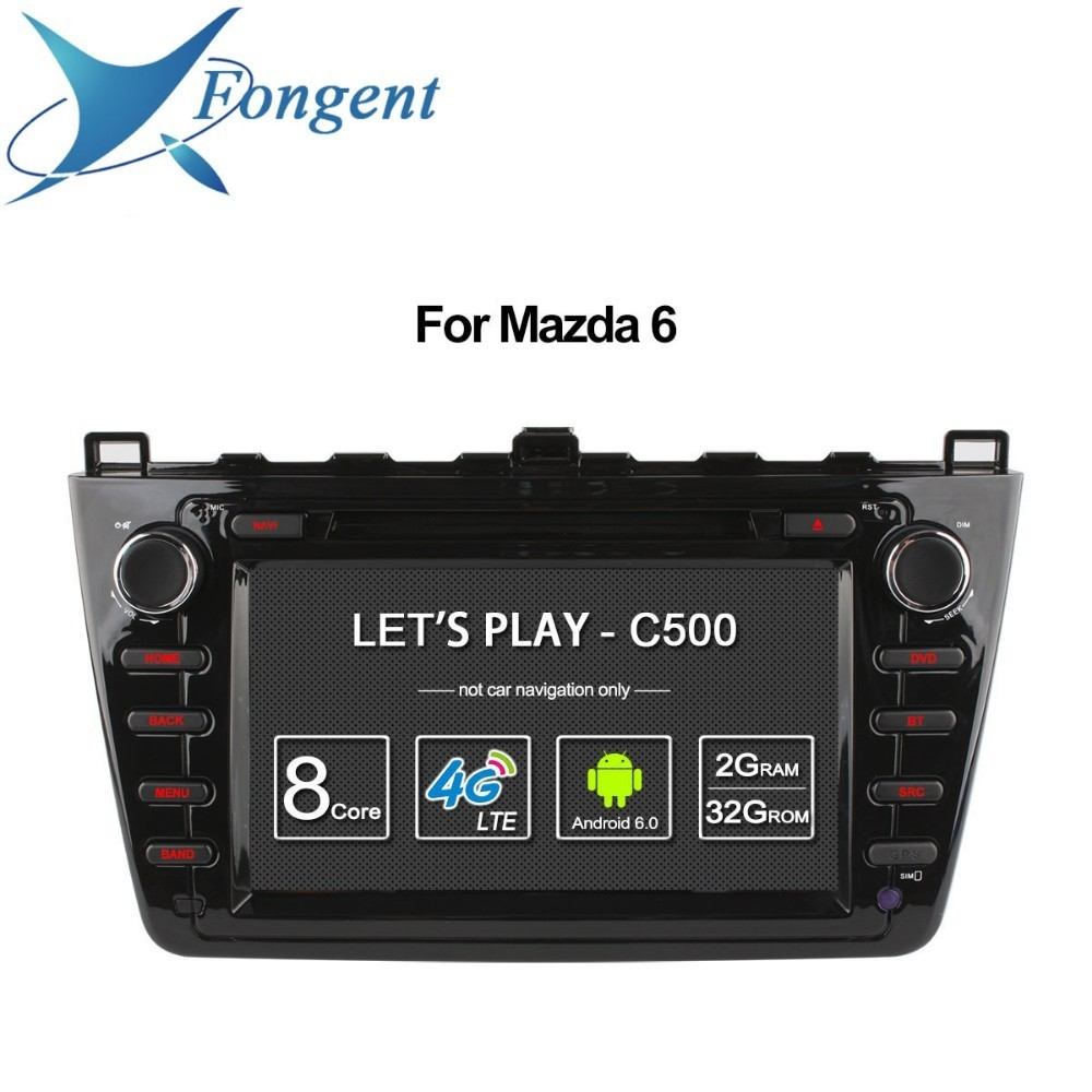 For Mazda 6 Ruiyi Ultra 2008 2009 2010 2011 2012 Android Unit Radio Stereo Multimedia Player 1 2 din DVD GPS Navigator Carplay цена