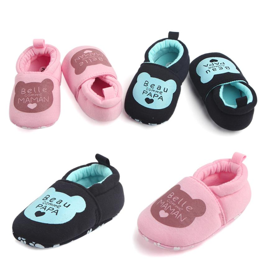 Lovely Toddler First Walkers Baby Round Toe Flats Soft Slippers Shoes Soft Soled Non-slip Footwear Crib Shoes For Drop Ship