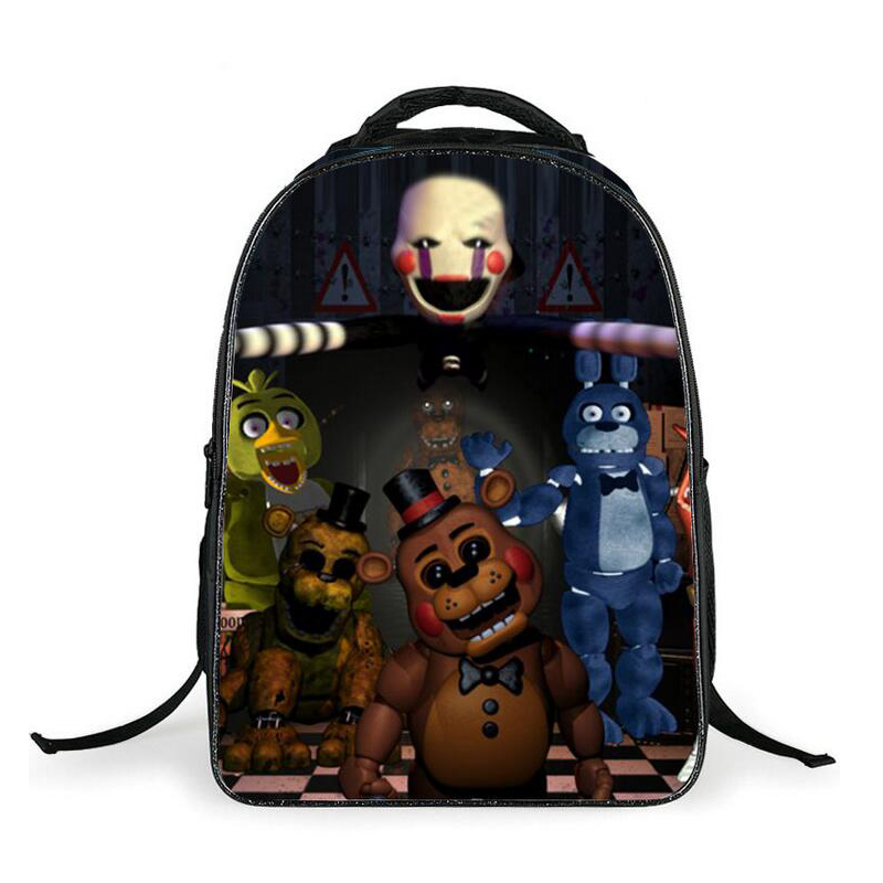 Cartoon Five Nights At Freddys School Bags Backpack Children Schoolbags For Teenagers Boy & Girl Bear Book Bag Kids FNAF Mochila