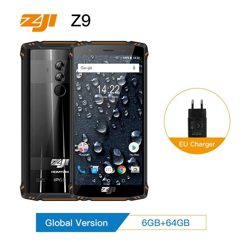 ZJI ZOJI Z9 IP68 Impermeabile Smartphone Octa Core da 5.7 pollici 6 GB di RAM 64 GB ROM 5500 mAh B20 4G FDD LTE B20 Completo delle Fasce Del Telefono Mobile