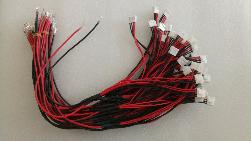50 Cm Red And Black Power Cable For Indoor Full Color Led Modules