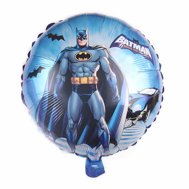 XXPWJ  New 18-inch round cartoon Batman aluminum balloon birthday event decoration balloon high quality  DD-037