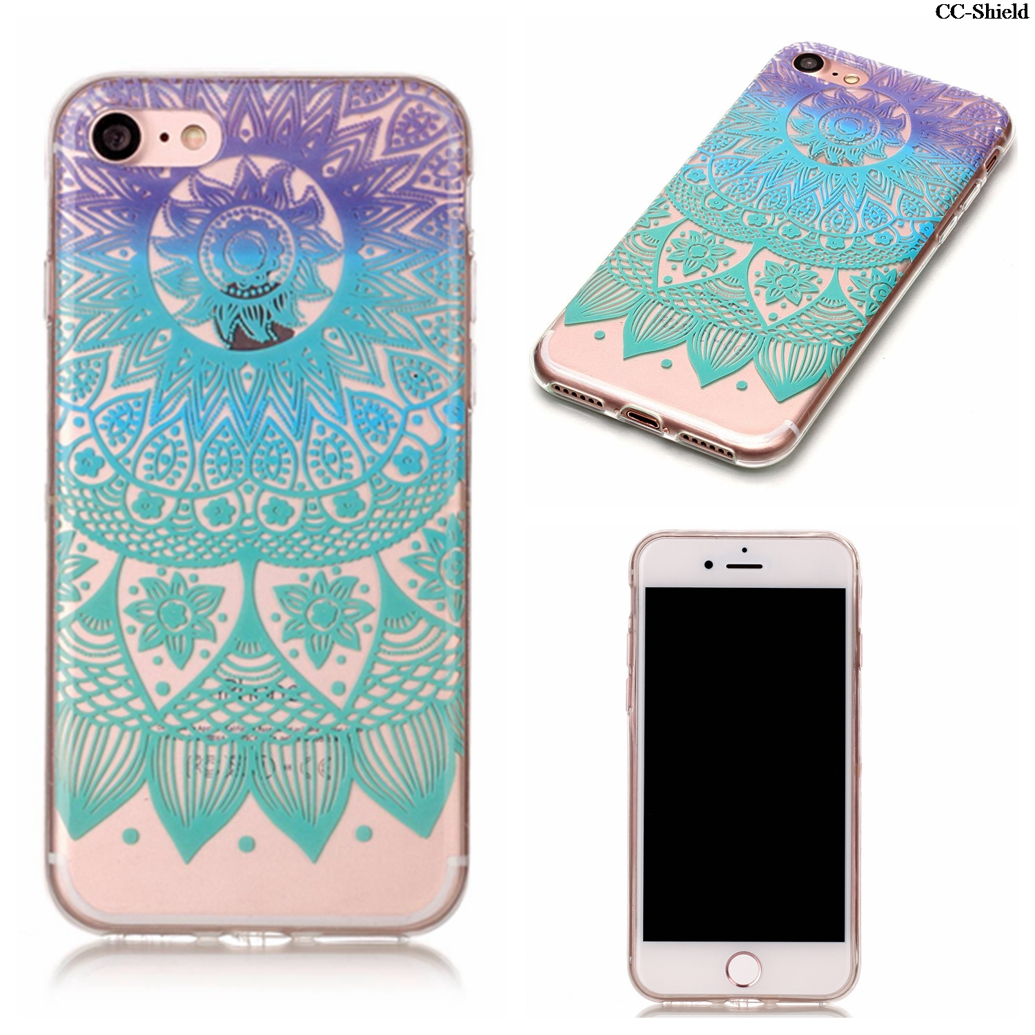 TPU Soft smartphone Case for Apple iPhone 7 i Phone7 fashion Silicone painting Phone Fitted Case for i Phone 7 iPhone7 cases bag