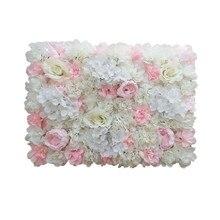 Свадебные декорации, искусственные пионы, Гортензия, розы, настенные цветы, 60x40 см, вечерние панели для декора