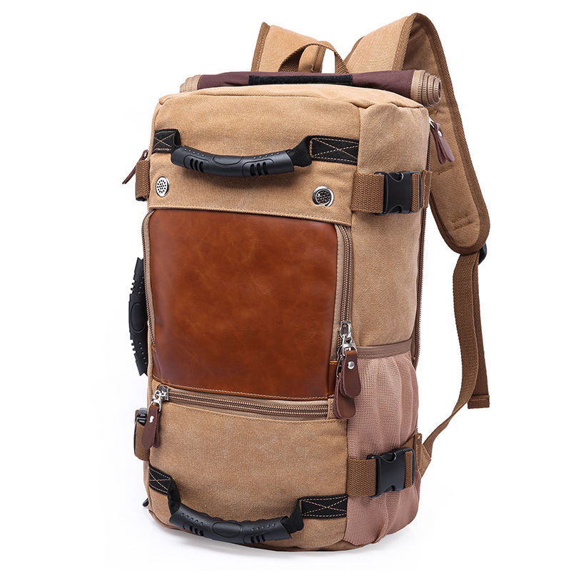 New Arrival Fashion Travel Bags for Men Large Capacity Portable Male Shoulder Bags Men's Handbags Vintage Canvas Travel Bag aosbos fashion portable insulated canvas lunch bag thermal food picnic lunch bags for women kids men cooler lunch box bag tote