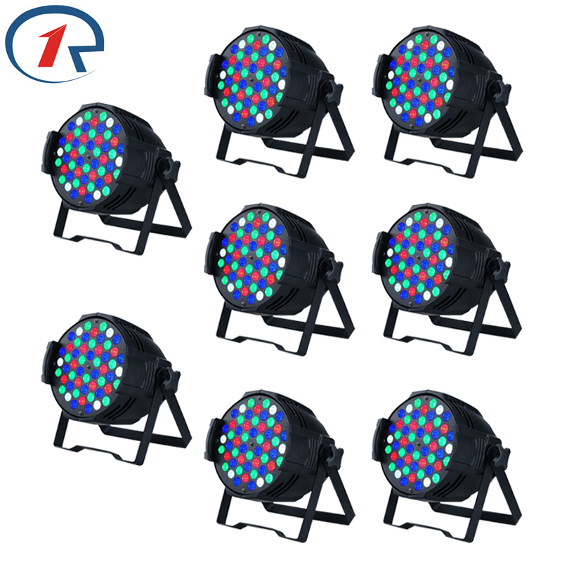 ZjRight 54 LED Par light 8pc/lot 30W colorful RGBW DMX512 Sound control wedding decoration Party bar dj stage lighting Fast ship transctego led stage lamp laser light dmx 24w 14 modes 8 colors disco lights dj bar lamp sound control music stage lamps