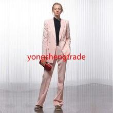 980d428c30b4 Women Business Suits Pink Double Breasted Female Office Uniform Ladies  Formal Trouser Suit 2 Piece Set Accept Tailor 114