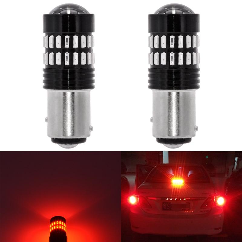 2x S25 1157 BAY15D P21/5W Led Car Light 4014 Chips 48 SMD High Power LED Brake Stop Backup Light Bulbs Red White Amber 1157 Led