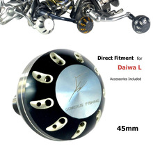 Gomexus Reel Handle Power Knob For Daiwa Saltist Saltiga Catalina Blast Tournament ISO Emblem 4500-6500 Seaborg 500-1200 45mm