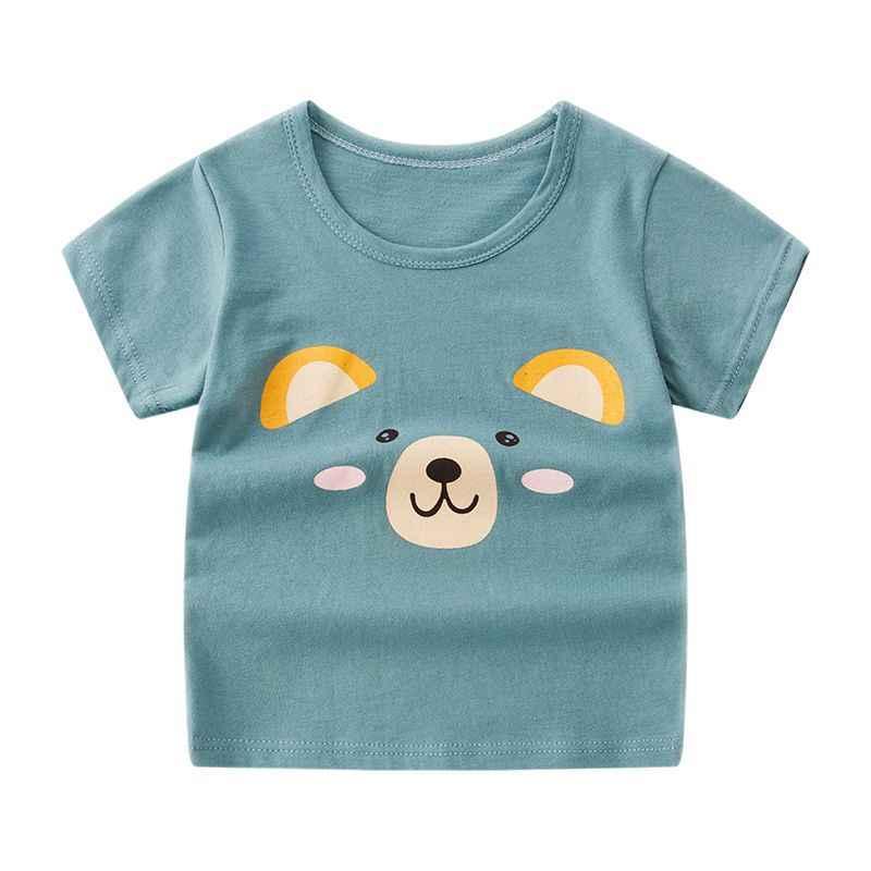 Летняя футболка для девочек футболка с короткими рукавами с принтом радуги и облаков для детей, хлопковые детские футболки для мальчиков, От 3 до 10 лет для подростков, топы для малышей