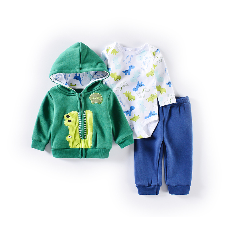 2019 New Housing Sets Of Boys Hooded Cardigan 3 Pcs Baby Set Newborn Baby Clothes Retail Baby Outfits Suit Infant Boys Clothing