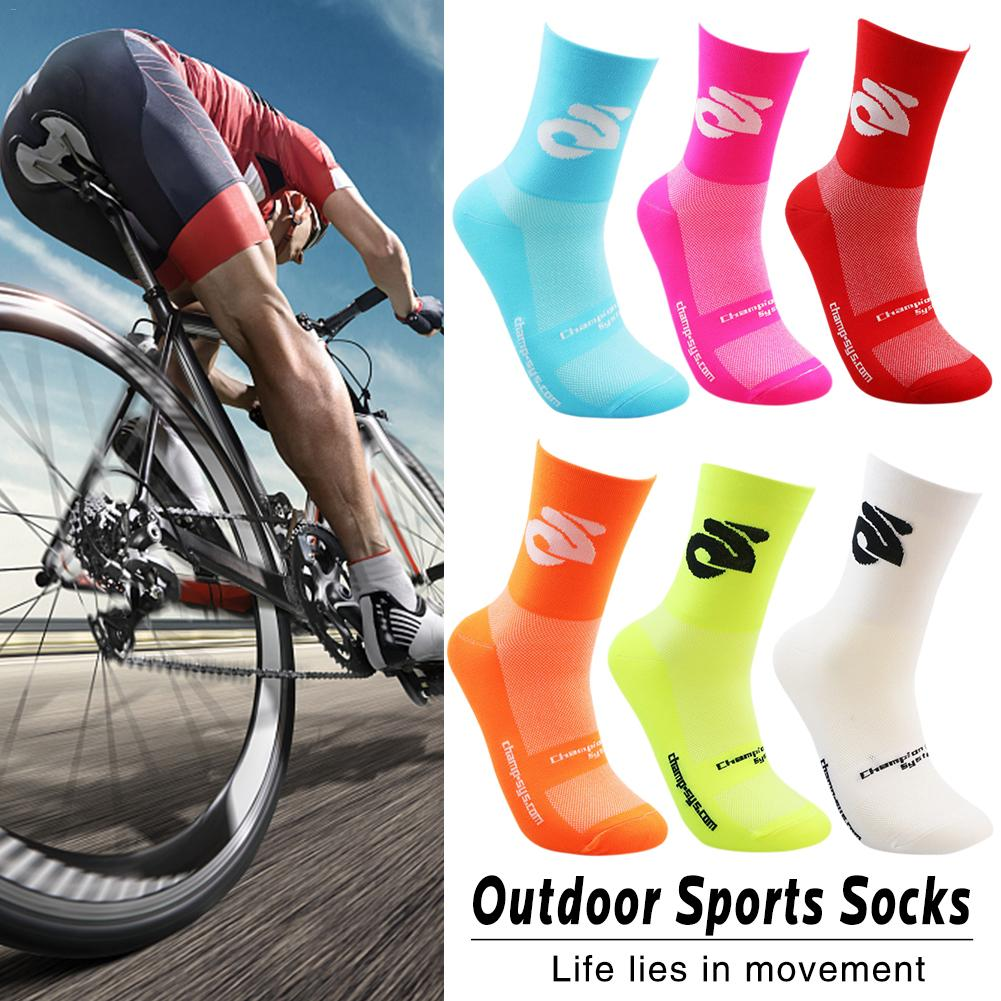 Men's New Professional Cycling Socks Women's Outdoor Sports Running Breathable Compression Socks