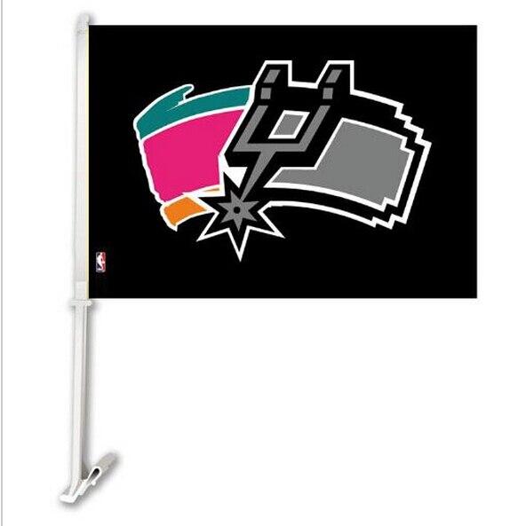 ᗜ Ljഃ30x45CM Car Window Flag, The 웃 유 SAN SAN Antonio Spurs
