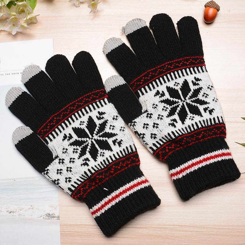 1 pair Men Women Winter Keep Warm Thermal Touchable Screen Knitted Gloves Workplace Safety Supplies Accessories Wholesale цена 2017