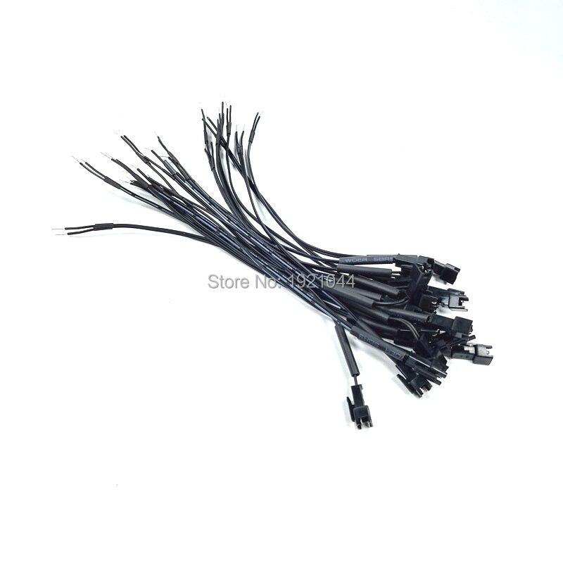 20PCS/lot EL Wire Connectors (Male) with 3.2mm Heat