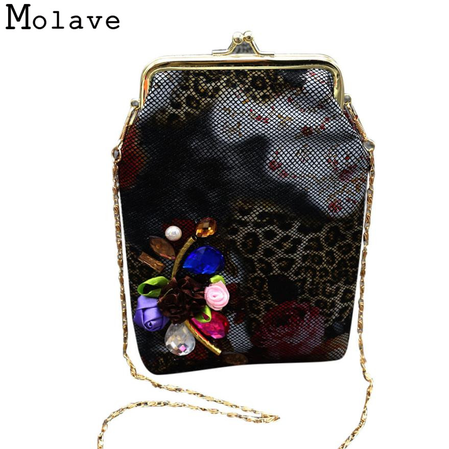 Naivety PU Leather Coins Purses Rhinestone Flower Coin Purse Small Hasp Wallet Chain Bag 30S71214 drop shipping