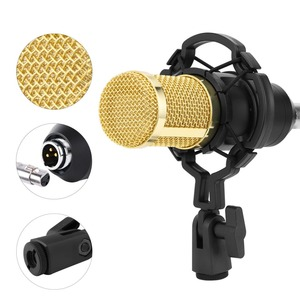 Image 3 - BM 800 Condenser Microphone Professional Mic Kit With Adjustable Mic Suspension Scissor Stand for Studio Rrecording Karaoke Mic