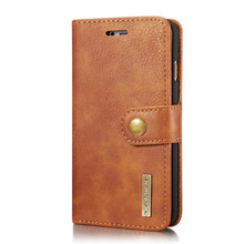 Luxury Genuine Leather flip magnetic wallet phone bag 2 in 1 detachable cover cases for iPhone 7 8 6 s plus 5 se x case