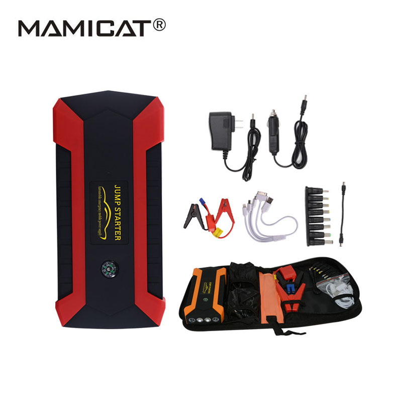 89800mAh Multi function Booster Car Battery 4 SOS Lighting Starting Device Water Proof Cover Jump Starter 12V LCD Display practical 89800mah 12v 4usb car battery charger starting car jump starter booster power bank tool kit for auto starting device