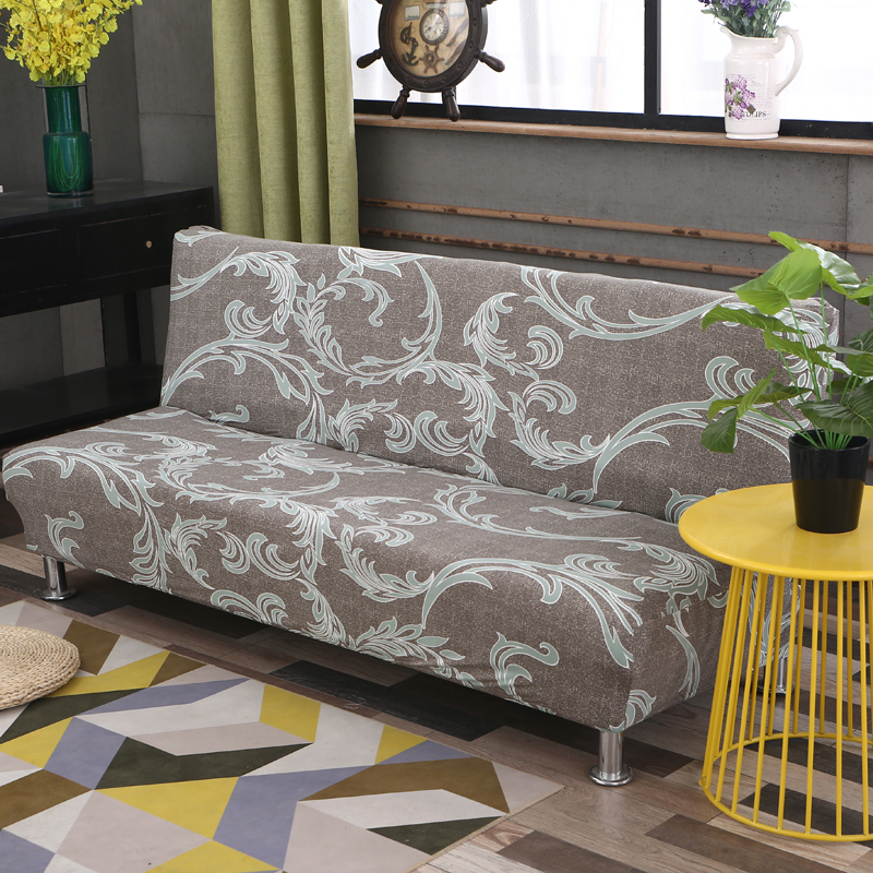 Universal size Armless Sofa Bed Cover Folding seat slipcovers stretch covers cheap Couch Protector Elastic bench Futon Covers 11