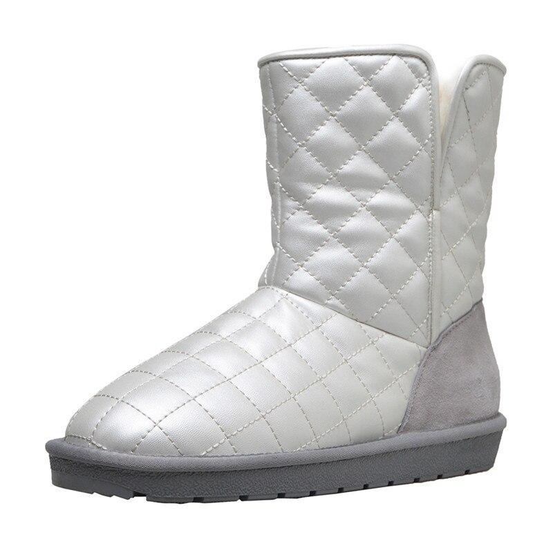 Del 18aw Tobillo as Zapatos As Nieve De En Invierno Show Rombo Lujo Plataforma Cuero Antideslizante Botas Mujer Piel Las Lana Suave Mujeres Impermeable La Show 7gPrxyC7wq