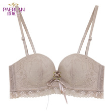 PAERLAN 2019 new fashion womens sexy lace side underwear bra 1/2 cup backless design