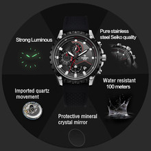 Luxury brand watches men stainless steel business casual sport multifunction men wrist quartz watch waterproof 100m CASIMA#8203