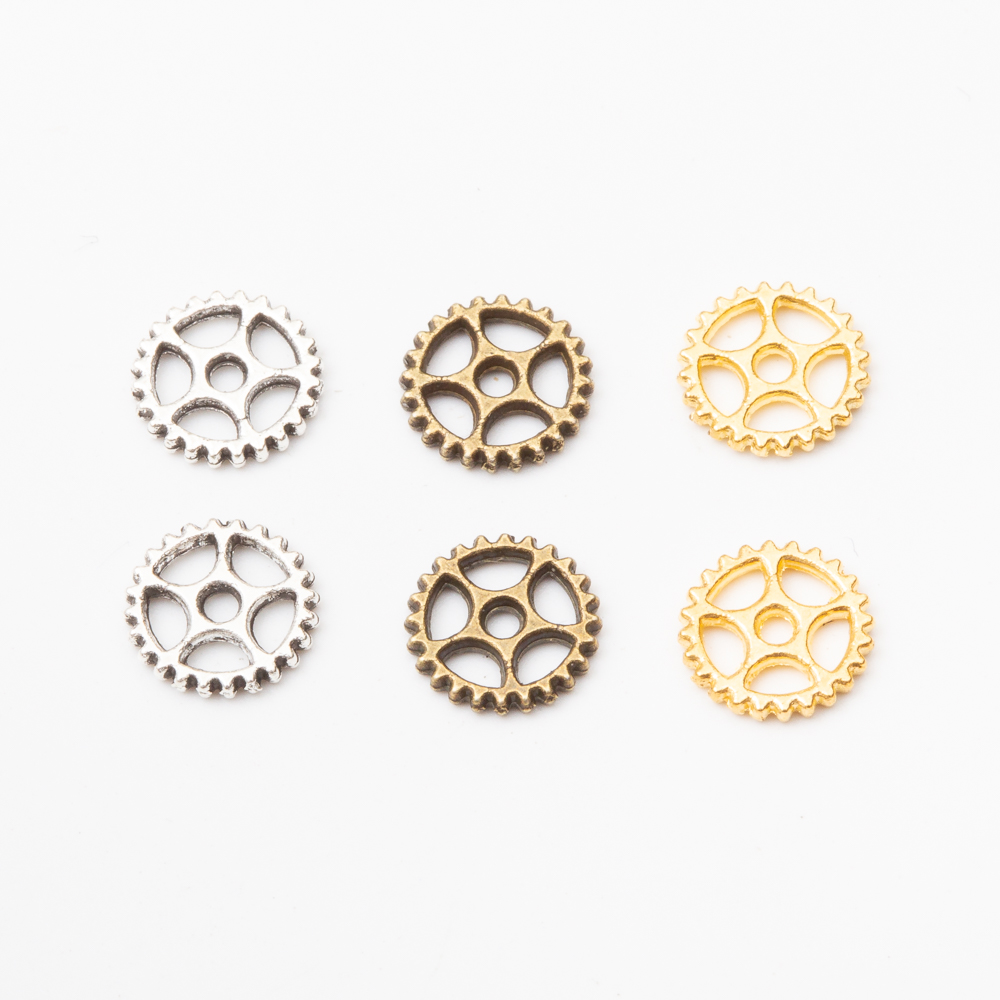 252pcs Vintage Metal Steampunk Gears Charms for Jewelry Making 5864
