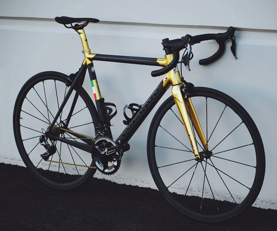 Gold logo Black Colnago C60 complete Bicycle full carbon road <font><b>bike</b></font> 105 R7000 Groupset 50mm carbon wheelset Novatec A271 hubs image