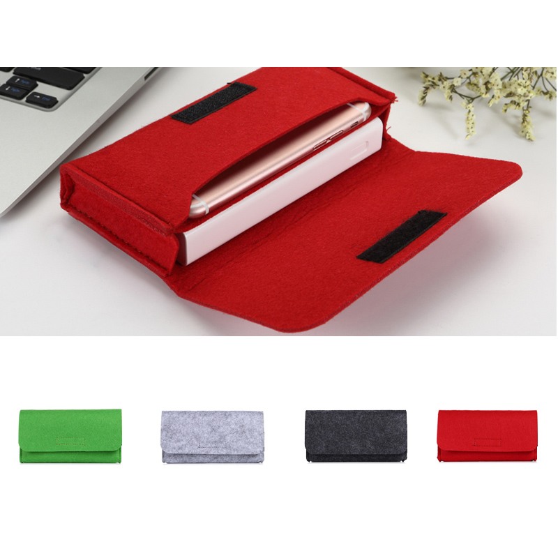 Fashion Power Bank Storage Bag Travel Digital Products Gadgets Organizer Felt Pouch for Phone Charger Electronics Accessories