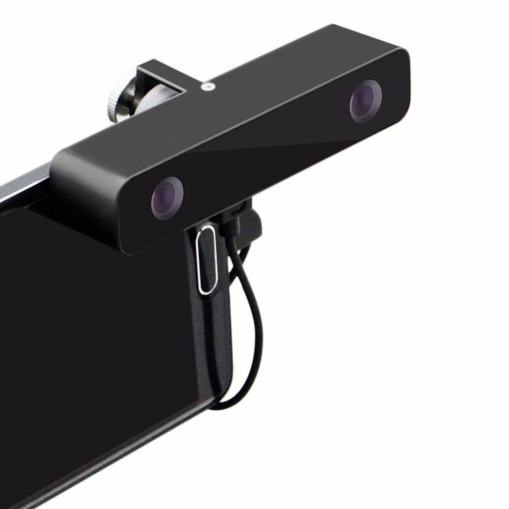 ELP Черный Алюминиевые Мини Видео Камеры micro HD 3D Usb камера 3д VR Видео камера с Широкий угол обзора 100 Градусов с Двумя объективами для Android Мобил...
