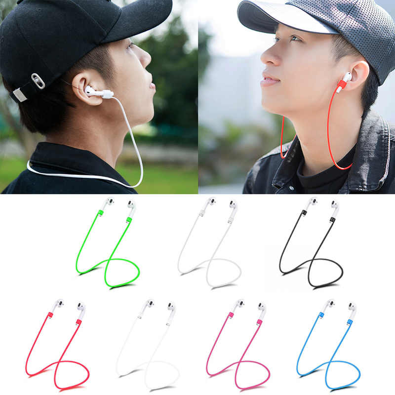 1/2 Pcs untuk Apple Udara Pods Silikon Anti Hilang Tali Leher Wireless Earphone String Tali Kabel Headphone Earphone aksesoris Tali