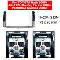 11-204 фасия панель стерео объемный адаптер радио отделка для TOYOTA Rush  DAIHATSU Be-Go  Terios PERODUA Nautica 2006 +