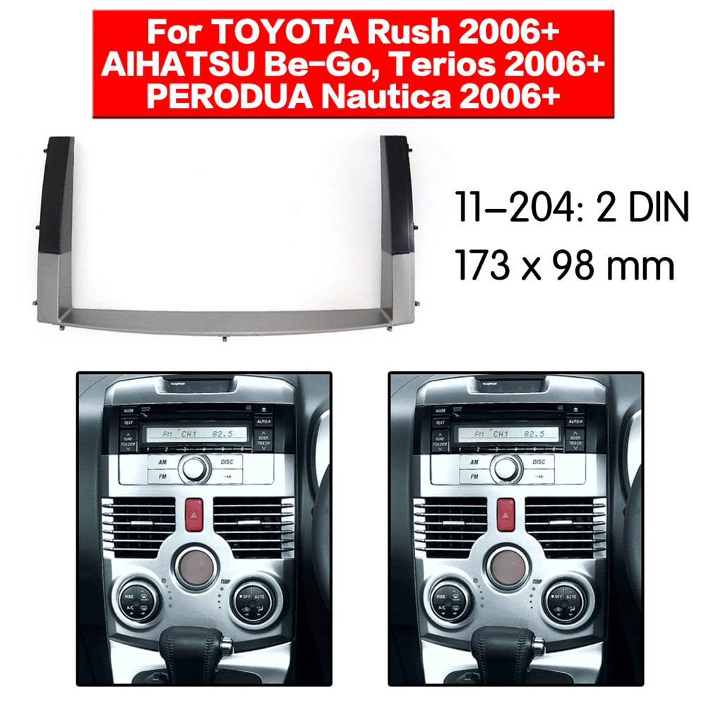 11-204 Facia Fascia Panel Stereo Surround Adaptor Radio Trim for TOYOTA Rush, DAIHATSU Be-Go,Terios PERODUA Nautica 2006+