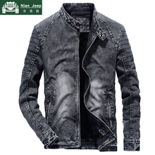 2019 New Vintage Denim Jacket Men Fashion Slim Fit Mens Jeans Coats St
