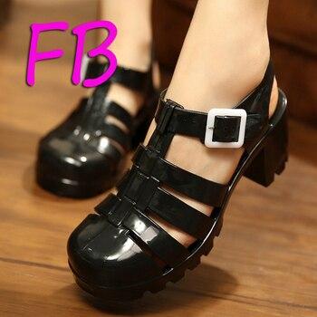 Melissa Clear Crystal Plastic Jelly Sandals Platform Sandals Shoes Woman Thick T-Shaped Sandals Gladiator Locomotive Women Shoes римские сандали