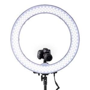 Image 2 - FOSOTO 18 אינץ led טבעת אור צילום מנורת Selfie Ringlight Led טבעת מנורה עם חצובה Stand עבור איפור Youtube Tiktok