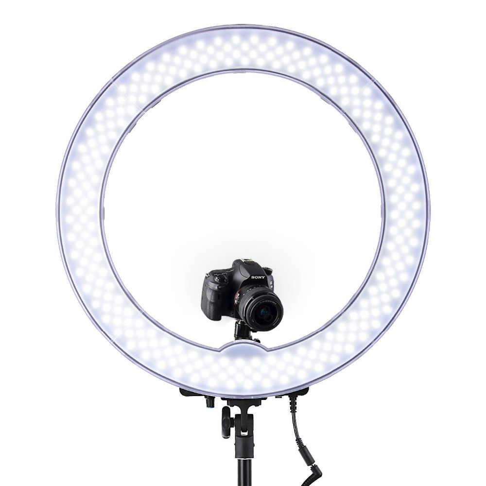 FOSOTO RL-18 5500K фотографическое освещение с регулируемой яркостью камера фотостудия телефон кольцо Лампа Фотография Led кольцо легкий штатив Стенд