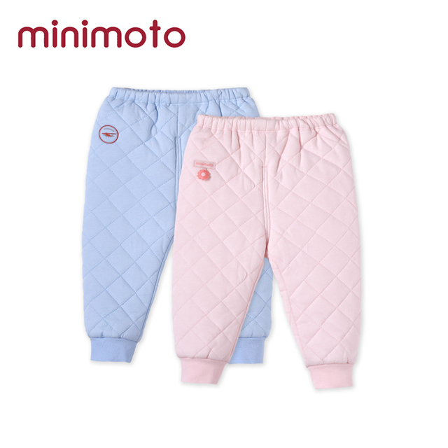 da0c481c1 Autumn Newborn Baby Girl Trousers Clothes Quilted Cotton Warm Thick ...