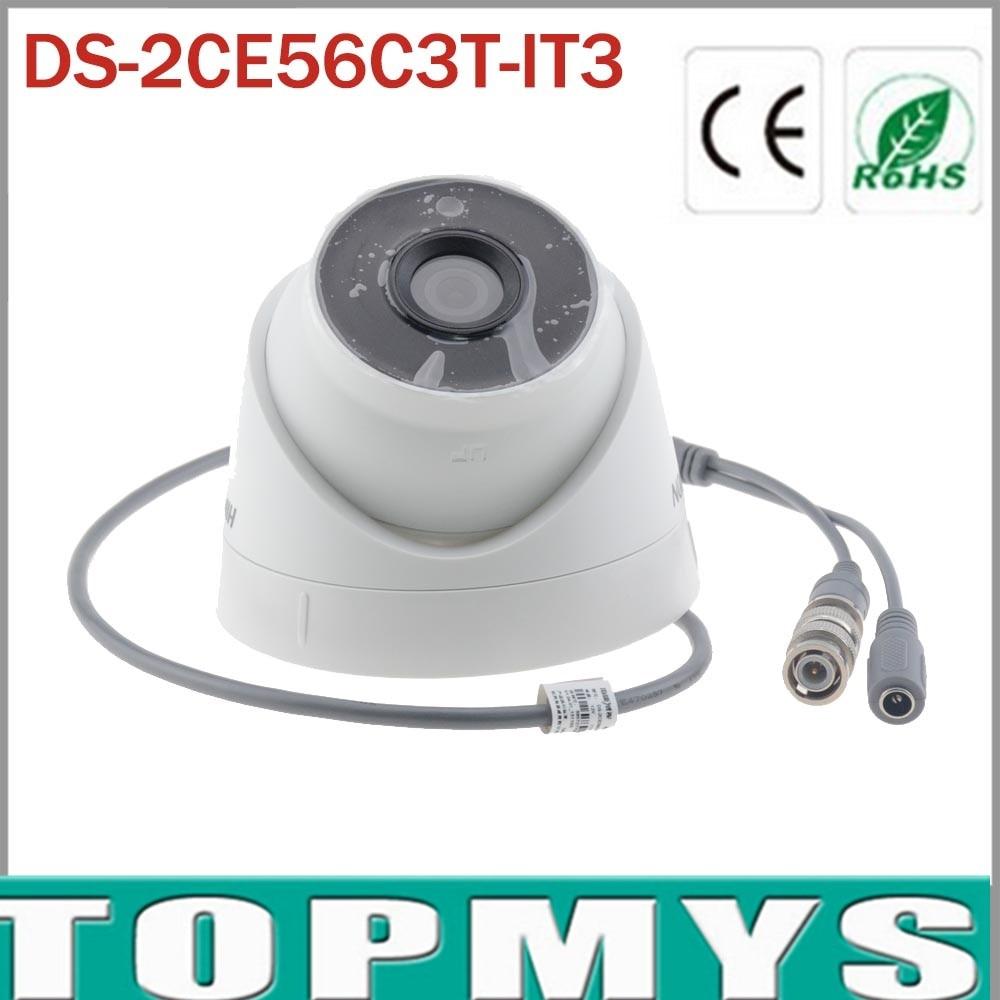 HIK 1.3MP Turret HDTVI Camera DS-2CE56C3T-IT3 HD 720P EXIR IP66 Weatherproof CMOS Camera with 40m IR Range hik ds 2ce56d1t it3 hd720p exir turret camera 2 megapixel cmos ip66 weatherproof turret camera with 40m ir home security camera