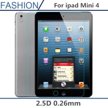 0.26mm 2.5D Explosion-Proof Toughened Tempered Glass For Apple iPad Mini4 Mini 4 Tablet PC Film HD Clear Screen Protect Cover