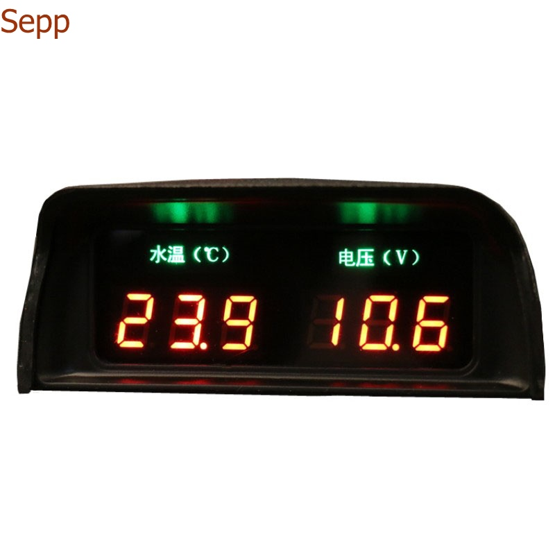 Radient Sepp Auto Mikrocomputer Wasser Temp + Volt Meter 2in1 Bunte Led-lichtgestalt Mit Warnung Elegant Und Anmutig
