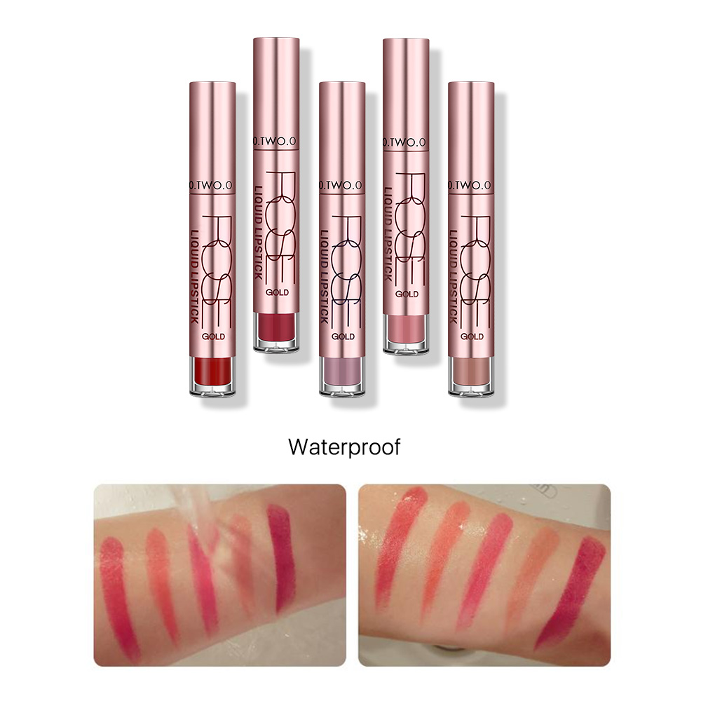 O.TWO.O Brand Lip Makeup Easy To Wear Matte Liquid Lipstick Sexy Color Matte Lipgloss Waterproof Long Lasting Lip Gloss Hot Sale 4
